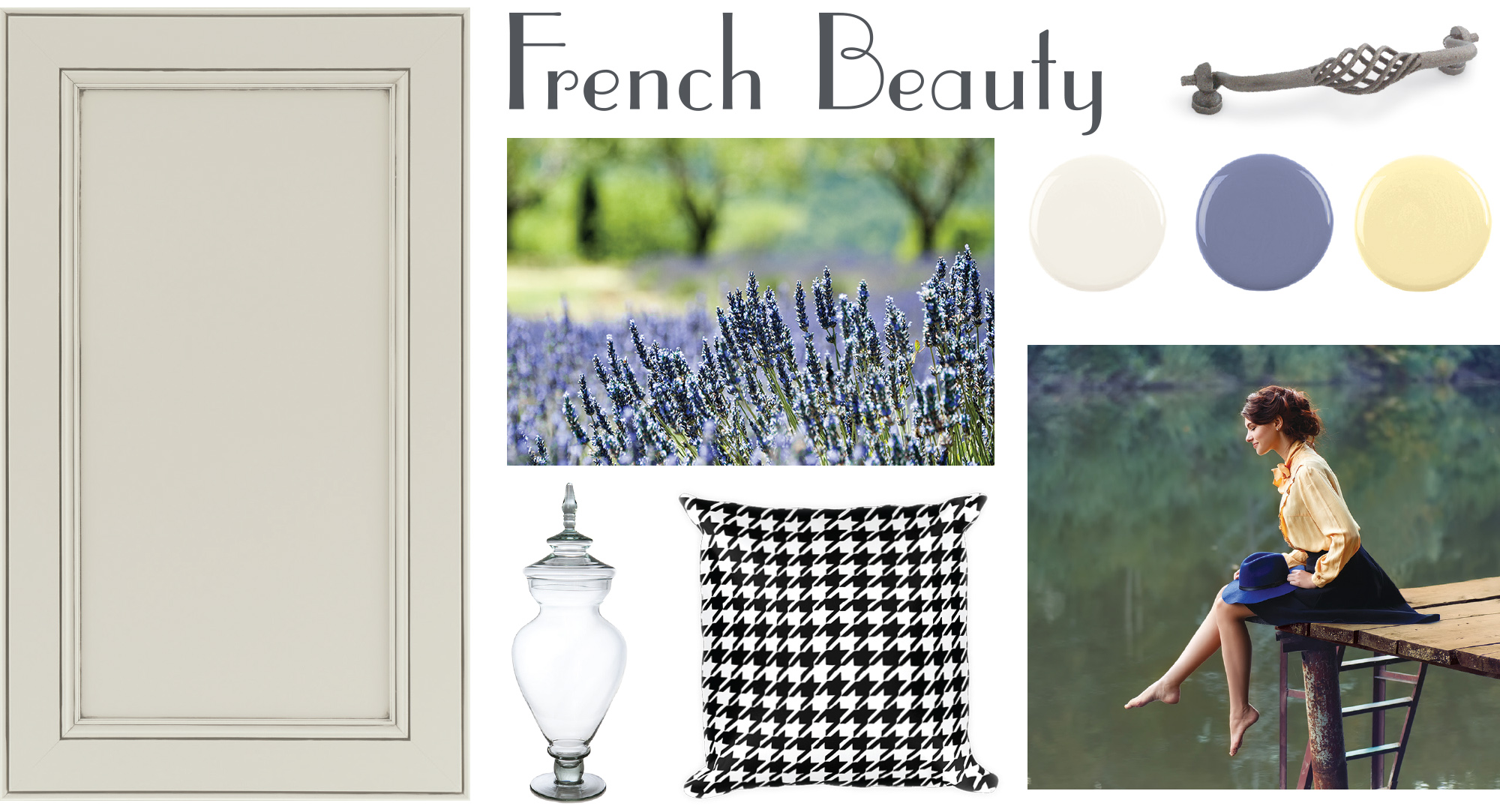 This French country style was created with Waypoint Living Spaces® door 750 Painted Ember Glaze