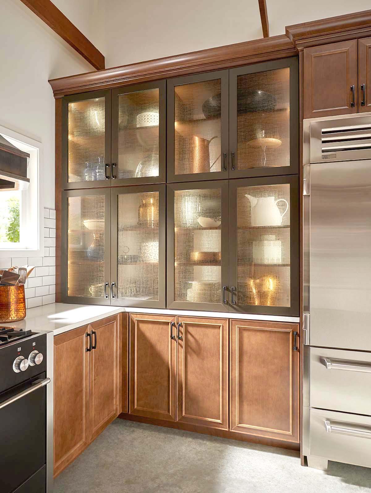 Installing glass in kitchen cabinet doors installing glass for Add glass to kitchen cabinets