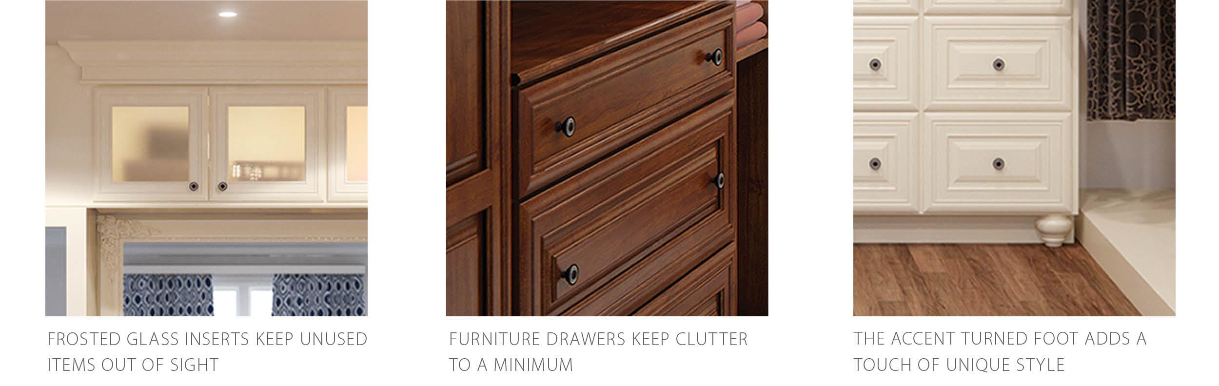 Closet details: