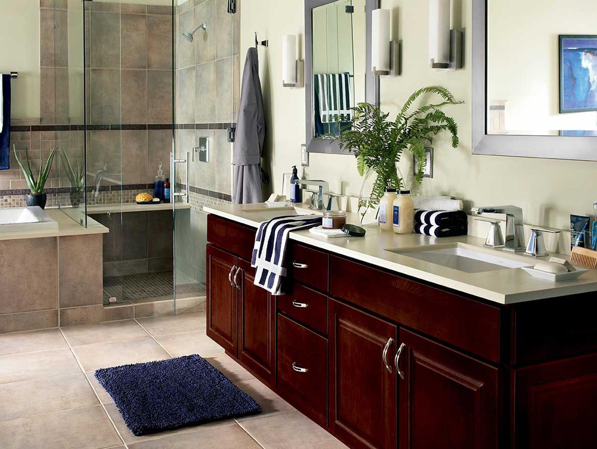 Cost Bathroom Remodel if you are dreaming to remodel your bathroom it is important to estimate the cost of material including metal glass title ultra modern skins an Baldwin Master Bathroom Waypoint Living Spaces Makes Remodeling Allure Bathroom Remodeling Rustic Shower Ideas Photos