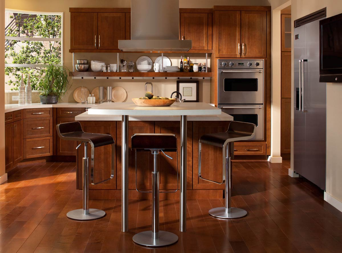 ... Kitchen Island Cart Features Round Shape Brown Wooden Countertop And  Visit Their Site ...